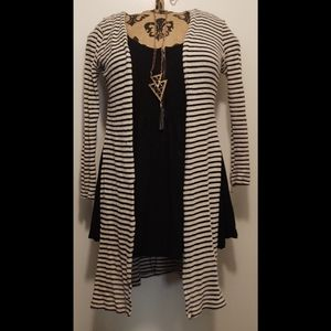 Ambiance Striped Long Cardigan (Cardigan Only)